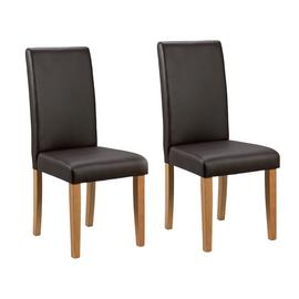 Argos Home Pair of Midback Dining Chairs - Chocolate