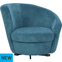 Argos Home Tilly Fabric Chair - Denim Blue