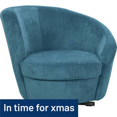Argos Home Tilly Fabric Swivel Chair - Denim Blue