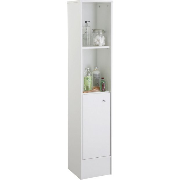 Buy home malibu tall bathroom cabinet white bathroom - White tall bathroom storage unit ...