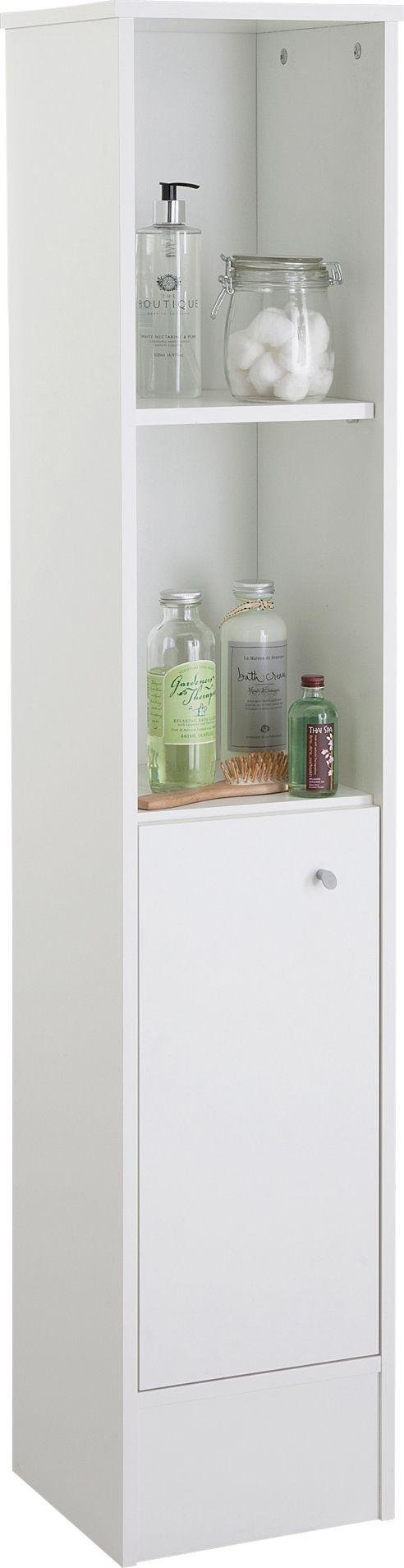 home malibu tall cabinet white