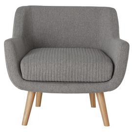 Habitat Nellie Fabric Accent Chair - Grey