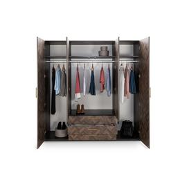 Argos Home Hallingford 4 Door Wardrobe - Parquet Effect