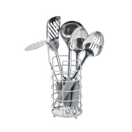Argos Home 5 Pc Stainless Steel Utensil Set - Flint Grey