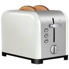 Cookworks Metal Bullet 2 Slice Toaster - Cream
