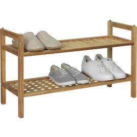 Argos Home 2 Tier Stackable Shoe Rack - Walnut