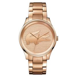 Lacoste Ladies Victoria Rose Gold Plated Bracelet Watch