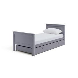 Argos Home Brooklyn Grey Single Bed with Drawer