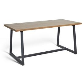 Argos Home Nomad 160cm Dining Table - Oak Effect