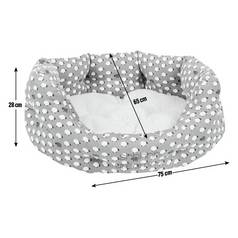 Petface Large Oval Bed - Sheep