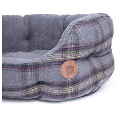 Petface Large Oval Bed - Grey Tweed