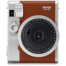 Fujifilm Instax Mini 90 Instant Camera with 10 Shots - Brown