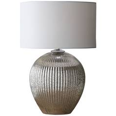Argos Home Millie Ribbed Table Lamp - Mercury Glass