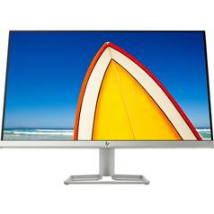 HP 24f 23.8 Inch FHD Ultraslim IPS Monitor - Silver/Black