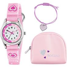 Tikkers Pink Heart Time Teacher Watch Set