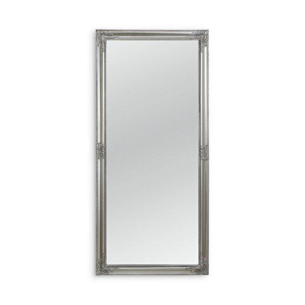Buy Argos Home Charlotte Rec Ornate Leaning Mirror Silver Mirrors Argos