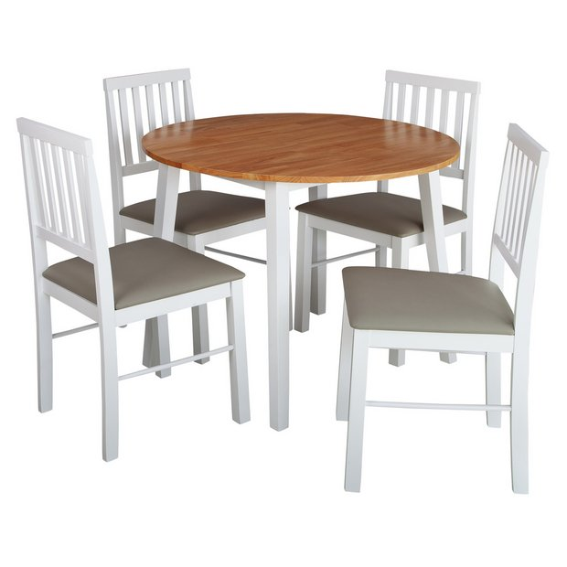 Buy Argos Home Kendal Round Drop Leaf Table 4 Chairs Two