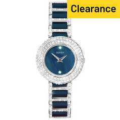 Seksy Ladies' Blue Ceramic Stone Set Bracelet Watch