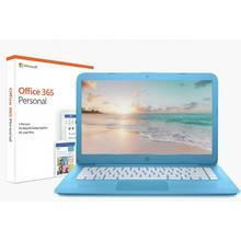 HP Stream 14 Inch Intel Celeron 4GB 32GB Cloudbook - Blue