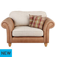 Argos Home Winter Windsor Fabric Cuddle Chair - Brown