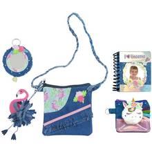 Chad Valley Be U Flamingo and Unicorn Denim Bag Set