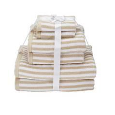 2eeccd7e48 Argos Home 6 Piece Towel Bale - Stone Skinny Stripe