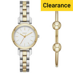 DKNY Ladies' Ellington NY2678 Gold Tone Watch and Bangle Set
