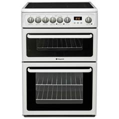 Hotpoint HAE60P Double Freestanding Electric Cooker - White