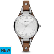 Fossil Ladies' Georgia ES3060 Petite Tan Leather Strap Watch