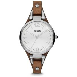 Fossil Georgia Ladies' ES3060 Brown Leather Strap Watch