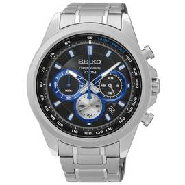 786052a36 Seiko Men's Chronograph Sport Stainless Steel Bracelet Watch