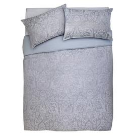 Argos Home Grey Damask Jacquard Bedding Set - Superking