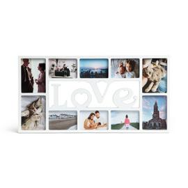 Argos Home Love 10 Print Photo Frame - White
