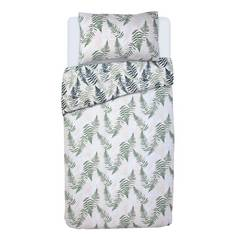 Argos Home Green Fern Print Bedding Set - Single