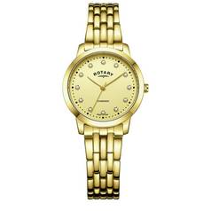 Rotary Ladies' Diamond Set Dial Gold Coloured Bracelet Watch