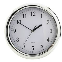 Argos Home Chrome Wall Clock