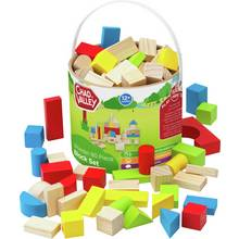 Chad Valley PlaySmart Wooden Block Set - 80 Pieces