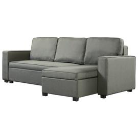 Argos Home Eddie Reversible Chaise Fabric Sofa Bed -Charcoal