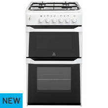 Indesit IT50GW Twin Gas Cooker - White