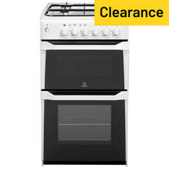 Indesit ITL50GW 50cm Twin Cavity Gas Cooker - White