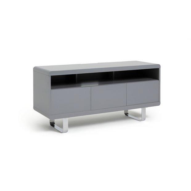 brand new cc04a 731a8 Buy Argos Home Sleigh TV Unit - Gloss Grey | TV stands | Argos