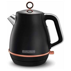 Morphy Richards Evoke 104414 Jug Kettle - Black & Rose Gold