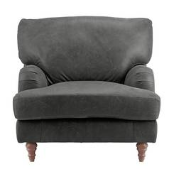 Argos Home Livingston Leather Armchair - Ash Grey