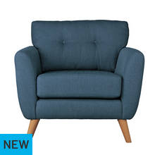 Argos Home Kari Fabric Chair - Blue