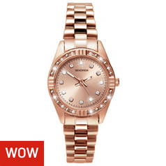 Sekonda Ladies  Stone Set Rose Gold Plated Bracelet Watch 6d725ac10d