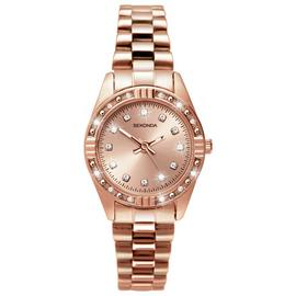 Sekonda Ladies' Stone Set Rose Gold Plated Bracelet Watch