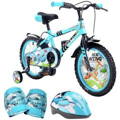 Pedal Pals 16 Inch Ace Wing Kids Bike and Accessories Bundle