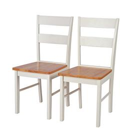 Argos Home Chicago Pair of Dining Chairs - Two Tone
