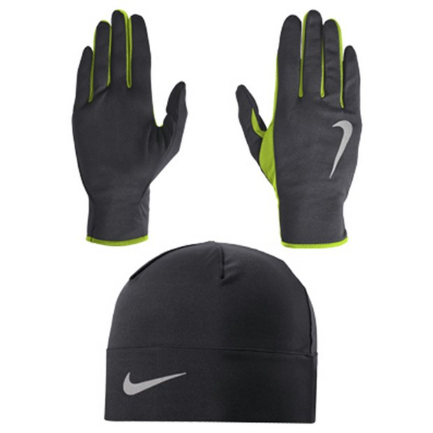 b429c0d3098f Buy Nike DRI-Fit Running Gloves   Beanie Set