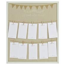Love Story Peg Board Wedding Table Plan